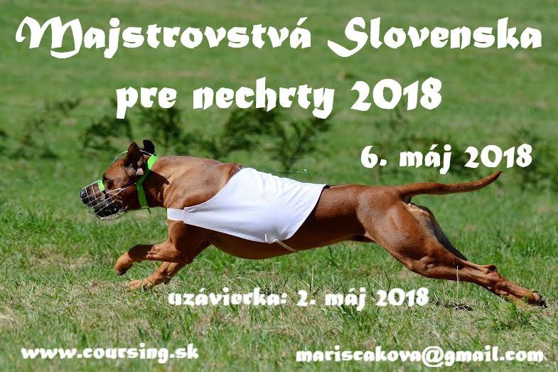 Majstrovstvá Slovenska pre nechrty 2018